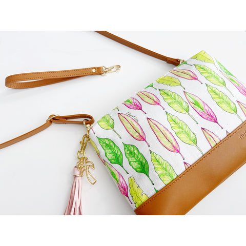Diamond Head Crossbody: Island Leaves