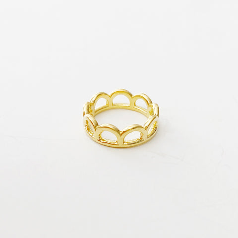 Classic Mermaid Crown Ring (Gold)