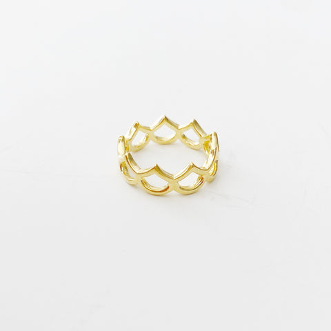 Classic Hilo Mermaid Scale Ring (Gold)