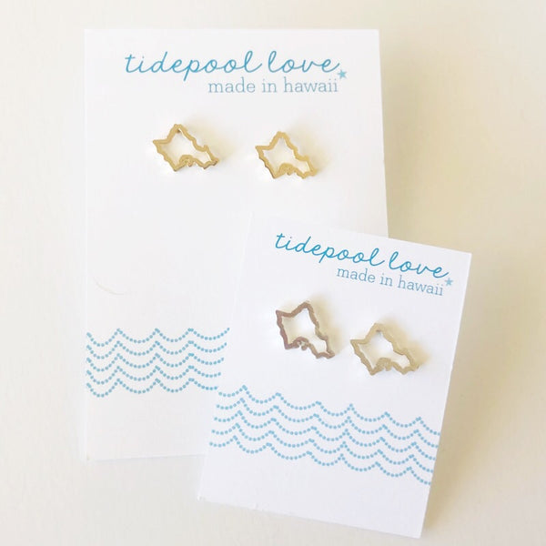 Mini Oahu Studs (Gold Vermeil or Solid Sterling Silver)