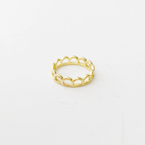 Mini Mermaid Crown Ring (Gold)