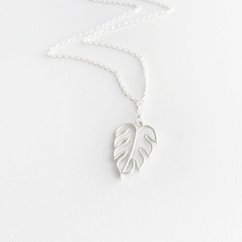 Island Getaway Monstera Leaf Necklace