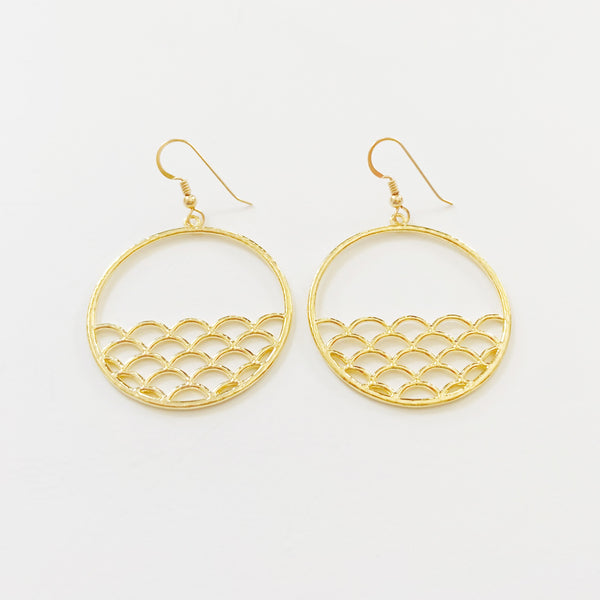 Sunset Ocean Hoops (Gold Vermeil)