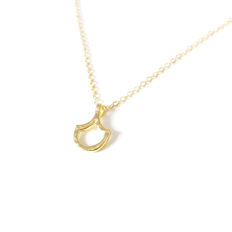 Mermaid Scale Single Necklace (14k Gold Vermeil)
