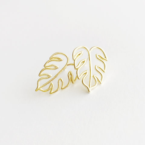 Island Getaway Monstera Leaf Studs