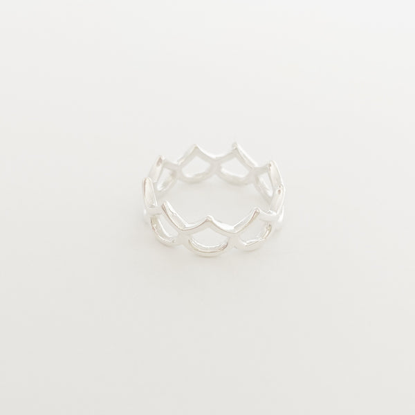 Classic Hilo Mermaid Scale Ring (Sterling Silver)