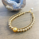 Haiku Falls Golden South Sea Double Bracelet
