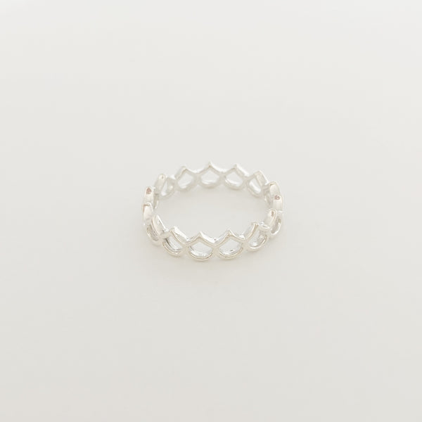 Mini Hilo Mermaid Scale Ring (Sterling Silver)