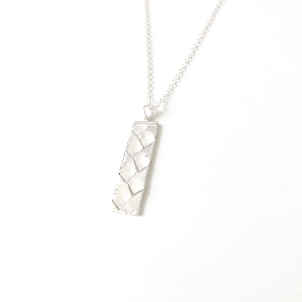 Woven Lauhala Long Necklace (Sterling Silver)