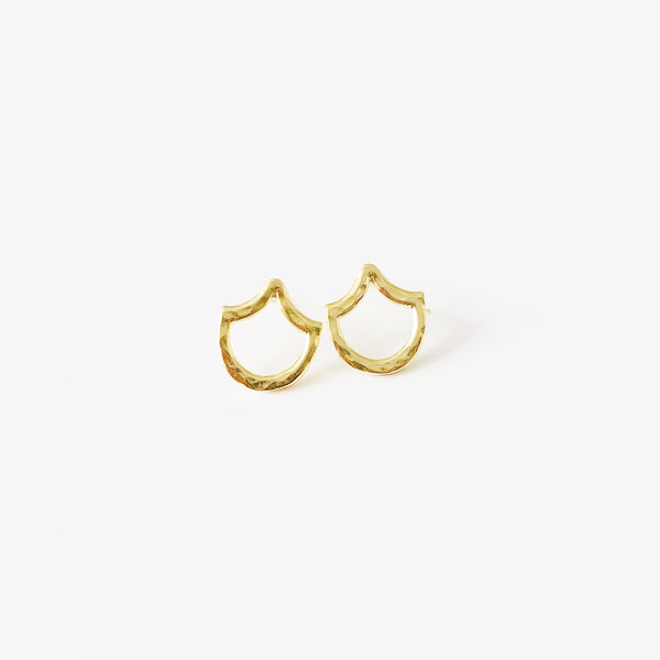 Mermaid Scale Single Stud Earring (14k Gold Vermeil)