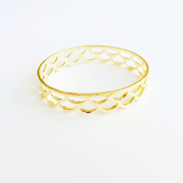 Waimea Mermaid Scale Bangle NEW! (14k Gold Vermeil)