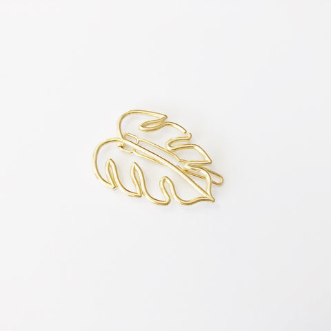 Tropical Monstera Leaf Hairclip