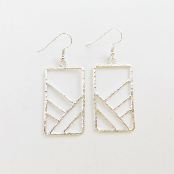 Ko'olau Mountain II Earrings (Sterling Silver)