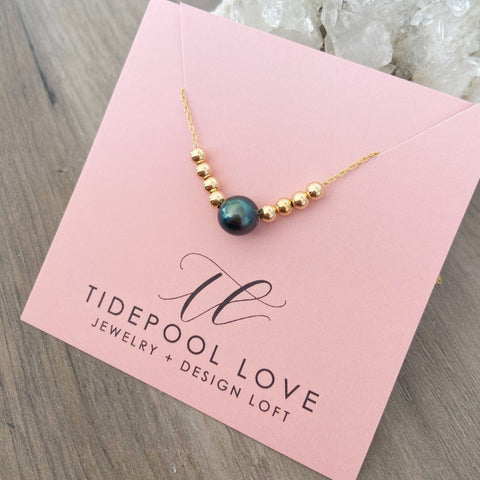 Tahiti Ocean Sandbar Bubble Necklace