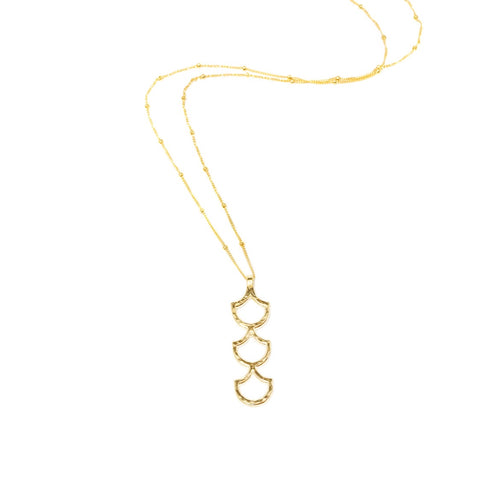 Mermaid Scale Lanikai Long Necklace (14k Gold Vermeil)