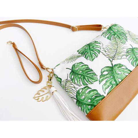 Diamond Head Crossbody: Island Monstera