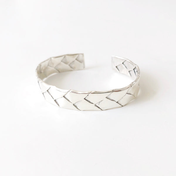 Woven Lauhala Cuff (Sterling Silver)