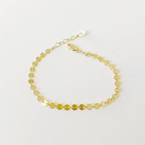 Simple Mini Moons Bracelet (14kgoldfill)