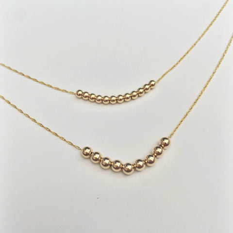 Mini Ocean Bubble Sandbar Necklace (14k Goldfill)