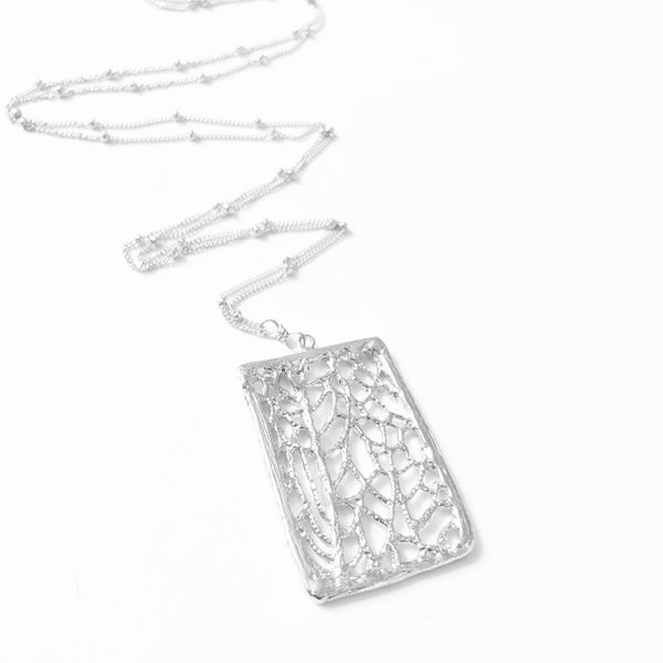 North Shore Coral Sea Fan Statement Necklace (Sterling Silver)