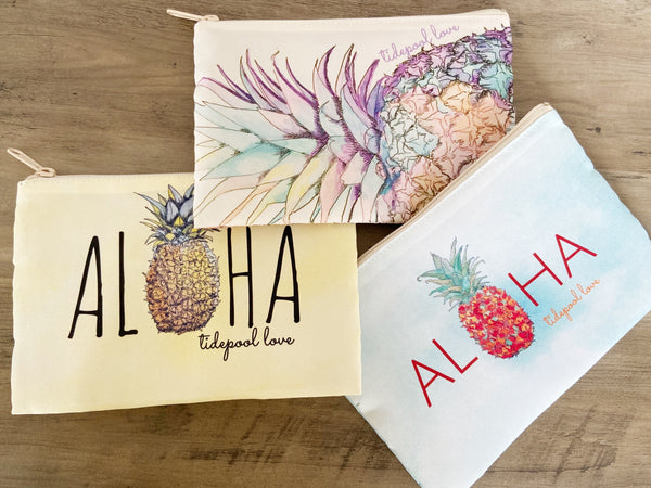 Pineapple Water-resistant Clutches