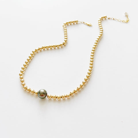 Tahitian Mermaid Bubble Necklace (14k goldfill)