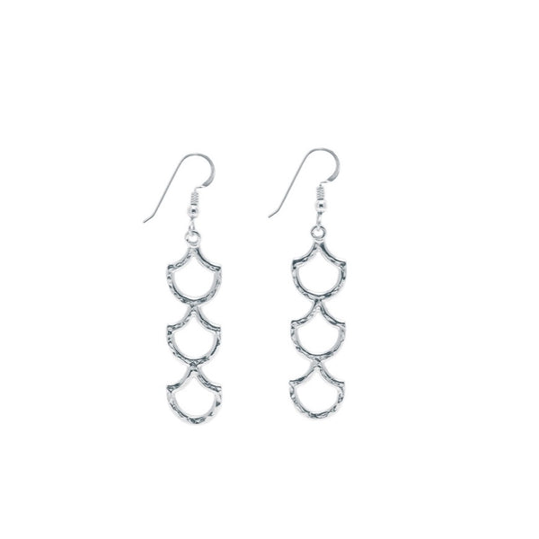 Mermaid Scale Lanikai Triple Earring (Sterling Silver)