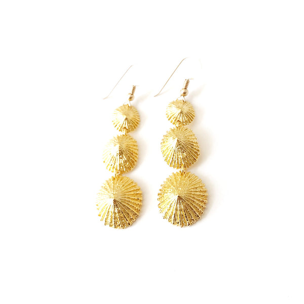 Mini Opihi Triple Drop Earring (14k Gold Vermeil)