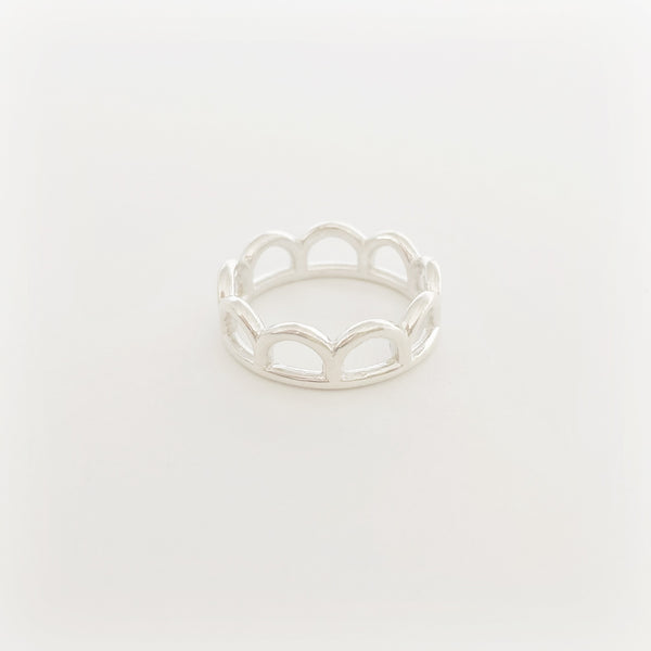 Classic Mermaid Crown Ring (Sterling Silver)