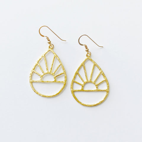 Ka Lā Sunrise Hoops (14k Gold Vermeil)