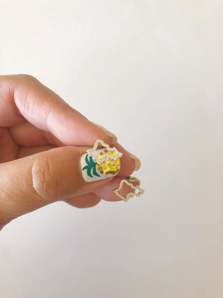 Mini Oahu Studs (Gold Vermeil)