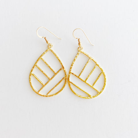 Ko'olau Mountain Earrings (14k Gold Vermeil)