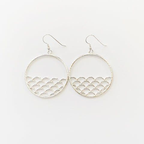 Sunset Ocean Hoops (Sterling Silver)