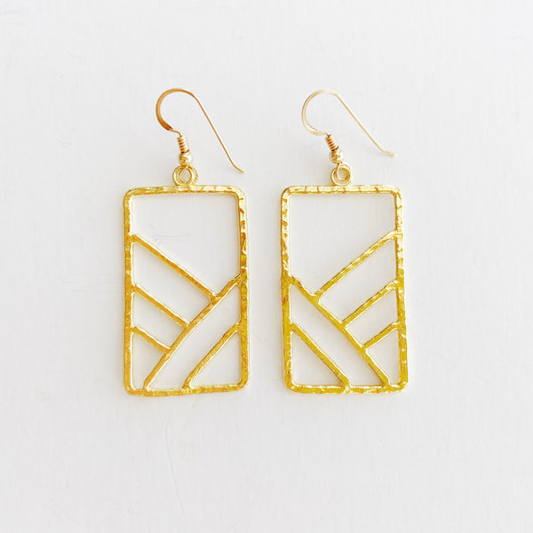 Ko'olau Mountain II Earrings (14k Gold Vermeil)