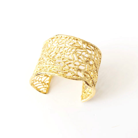 North Shore Coral Sea Fan Statement Cuff (14kGold Vermeil)
