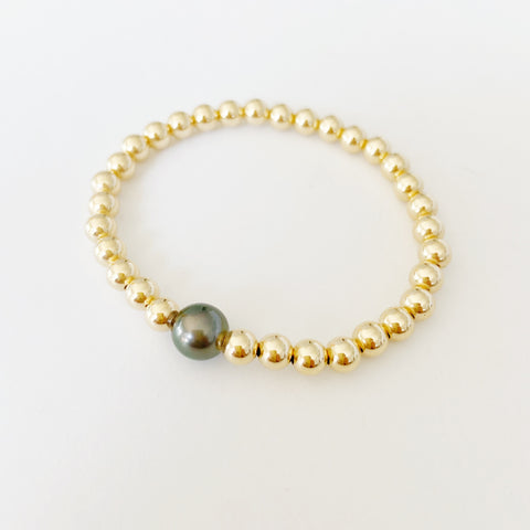 Tahitian Mermaid Bubble Pearl 14k Gold Fill Bracelet