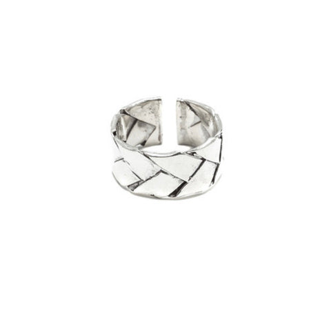 Woven Lauhala Ring (Sterling Silver)