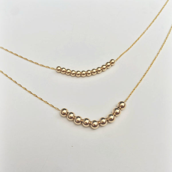 Ocean Bubble Sandbar Necklace (14k Goldfill)