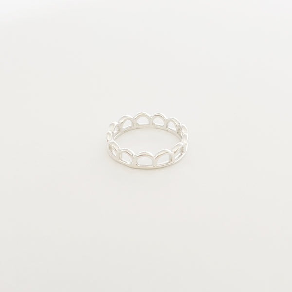 Mini Mermaid Crown Ring (Sterling Silver)