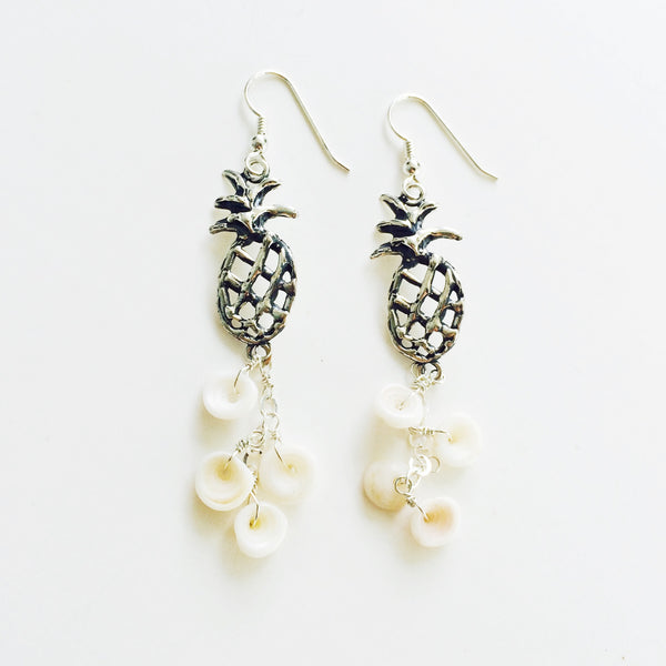 Sweet & Sandy Pineapple Puka Earring