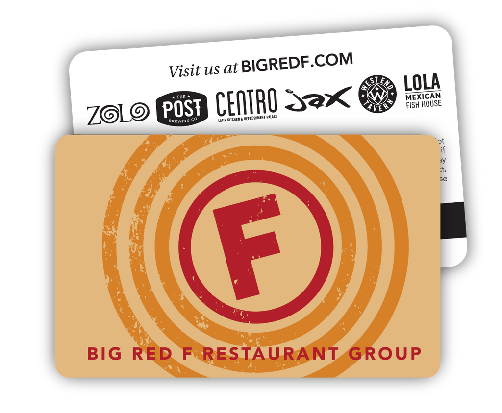 Big Red F Gift Card (Tan)