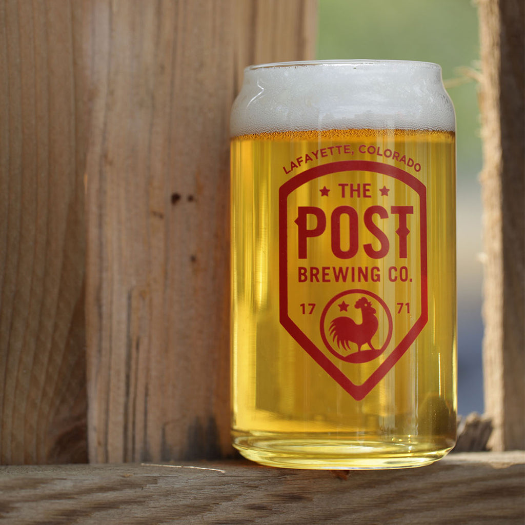 Post Brewing Co. Can Glass