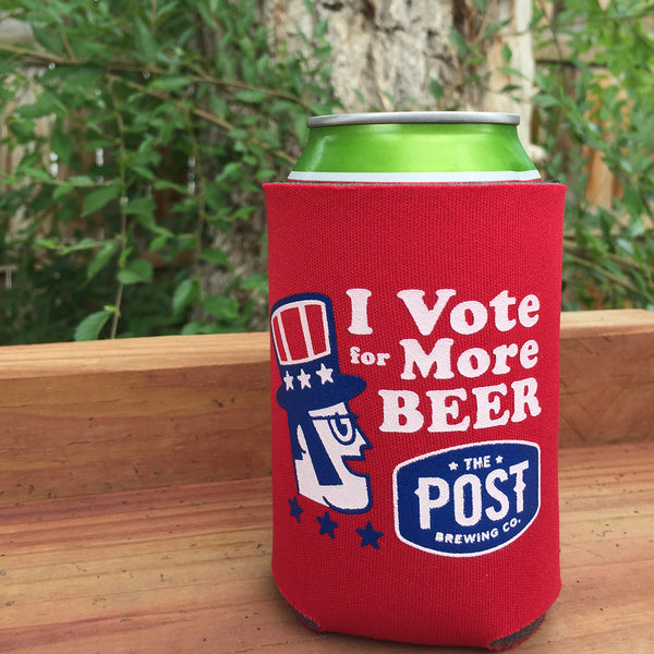 "Post Brewing Co. ""Vote More Beer"" Koozie"