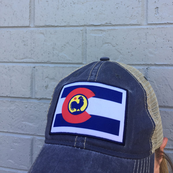 CO Flag Chicken Hat
