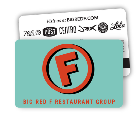 Big Red F Gift Card (Teal)