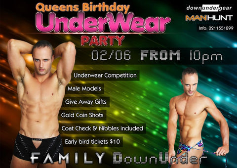 Underwear Party at Family DownUnder