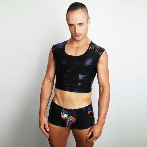 Voodoo Magic cropped muscle tank