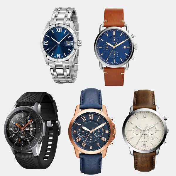PACK OF 5 WRIST WATCHES COMBO - 1 Year Warranty
