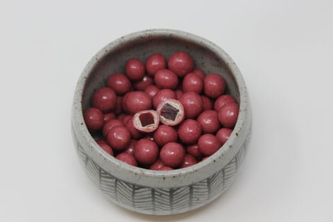 Raspberry Pate de Fruit Covered in Ruby Chocolate