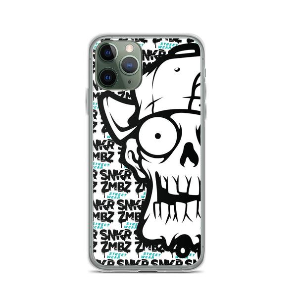 SNKR ZMBZ Skull iPhone Case
